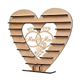 liumiKK Mr&Mrs Diamond Ring Pattern Wooden Ornaments Chocolate Stand Candy Cupcake Display Desserts Holder Home Decor Wedding Party Bars