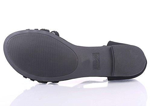 Mode Sexy Blink Gladiateur Bride À La Cheville Côté Boucle Slip Sur Sandales Femmes Sandales Chaussures Plates Nouveau Sans Boîte Noire
