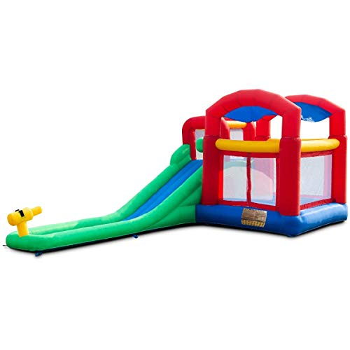 Kids Inflatable Castle Home Toys Games Outdoor Play Equipment Bouncers Toy Hobbies Outdoors Hobby House, Boy, Girl, Child, Children, Gift, Indoor, Chateau, Slide, Play, Jump, Jumper, Hopper, Alfresco from Lek Store