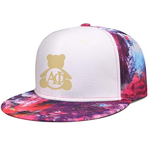 WJINX Alpha Phi Bear Unisex Hip-Hop Flat Brim Cap Relaxed Fit Adjustable Trucker Hats -