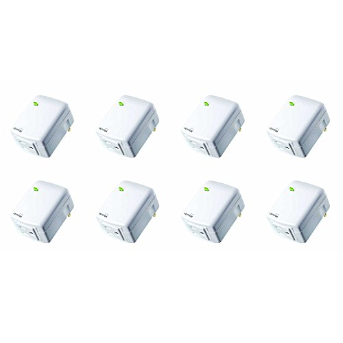 Leviton DW15A-1BW Decora Smart Wi-Fi Plug-in Outlet, Works with Amazon Alexa, No Hub Required (8 Pack) by Leviton