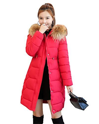 Pour Veste Rembourrée Chaude Veste Manteau Avec 1 Rouge Les Capuche Femmes Vestes D'hiver Parka fXYaza