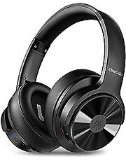 OneOdio A30 Noise Cancelling-hoofdtelefoon, Bluetooth 5.0, over-ear-hoofdtelefoon, HiFi Studio headset met microfoon, CVC 8.0 type-C, tot 45 uur speeltijd, voor smartphones, iOS Android TV (zwart)