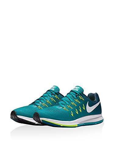 Nike Air Zoom Pegasus 33, Zapatillas de Running Para Hombre Verde (Rio Teal / White-Midnight Turq-Volt)