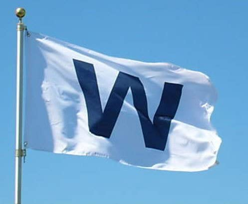 Amazon.com : Wrigley Field 3' x 5' 'W' Banner Flag : Garden & Outdoor