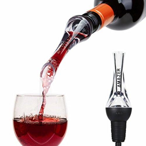 - Wine Aerator Pourer, Amazer Aerating Wine Pourer Decanter Premium Aerating Pourer and Decanter Spout