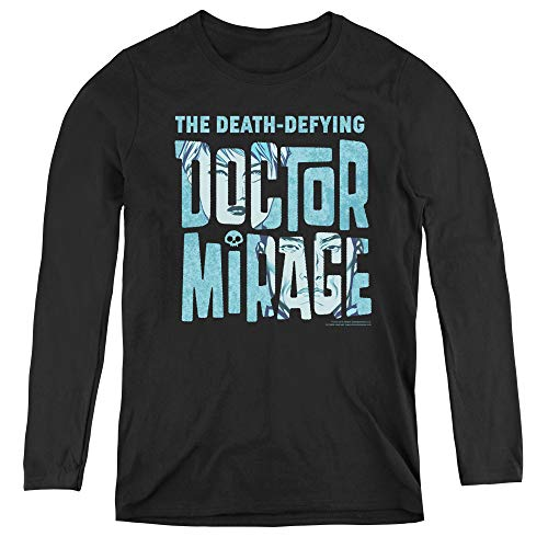 Doctor Mirage Character Logo Adult Long Sleeve T-Shirt for Women, Small -