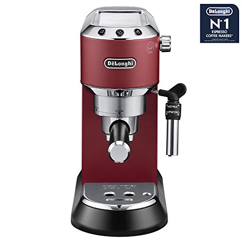 (Delonghi EC685.R DEDICA 15-Bar Pump Espresso Machine Coffee Maker, Red, 220 Volts (Not for USA - European Cord))