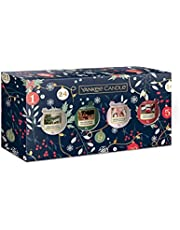 Yankee Candle Geschenkset | Kaarsen met kerstgeur | 4 geurkaarsen | Countdown to Christmas Collection