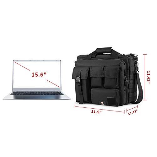 GES Multifonctions Tactique en Nylon d'épaule pour Ordinateur Portable Messenger Bag Porte-Documents Sacs à Main pour 15… 2