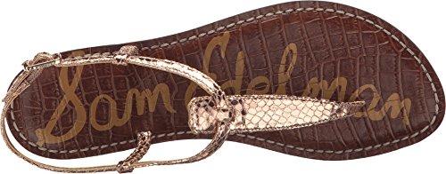 Fashion Snake Print Women's Sam Edelman Boa Sandals Rose Gigi Gold Metallic S4wftqxA