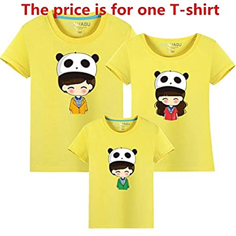 2b9fe7044 Mother & Kids Summer Family Home Clothing Short Sleeve Boys Girls T-Shirt  Outfits Mother Father Son Family Matching Outfits : as Chart, Dad 2XL:  Amazon.in: ...