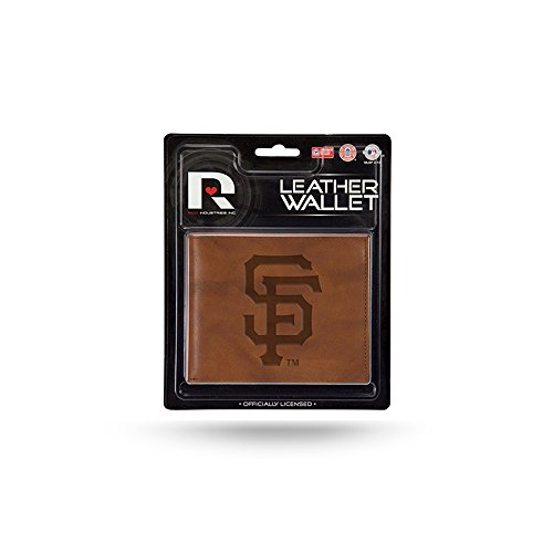 San Francisco Giants Official MLB Leather Billfold Wallet by Rico Industries - Giants Mlb Leather