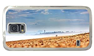 Hipster rubber Samsung Galaxy S5 Cases Beach Rough Sea PC Transparent for Samsung S5