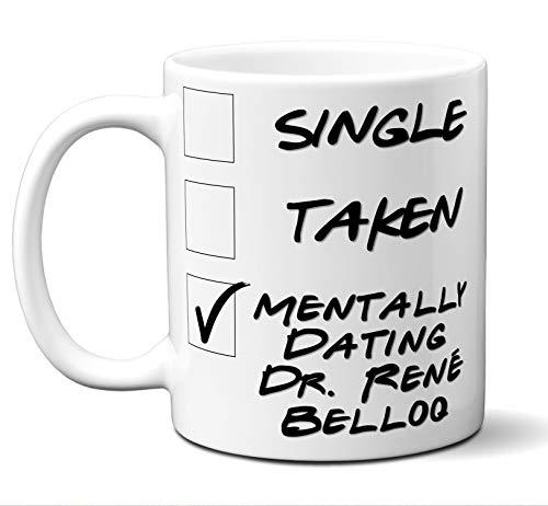 "Funny""Dr. René Belloq"" Novelty Movie Lover Gift Mug. Single, Taken. Poster, Men, Women, Birthday, Christmas, Father"