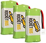 #1: 3-Pack RocketBus 2.4V Replacement Cordless Phone Battery for AT&T VTech BT183342 BT283342 BT166342 BT266342 BT162342 BT262342 CS6114 CS6419 CS6719 EL52300 CL80114