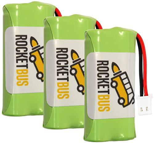 (3-Pack RocketBus 2.4V Replacement Cordless Phone Battery Packs for AT&T VTech BT183342 BT283342 BT166342 BT266342 BT162342 BT262342 CS6114 CS6419 CS6719 EL52300 CL80114)