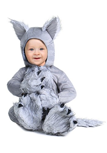 Infant Wolf Costume 0/3 Months Gray]()