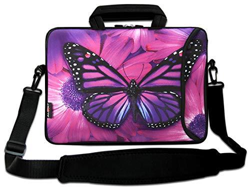 """AUPET 11"""" 11.6"""" 12"""" 12.5"""" 12.9"""" 13-13.3 inch Neoprene Laptop Sleeve Bag Carrying Messenger Bag with Outside Handle and Adjustable Shoulder Strap & External Side Pocket, for ASUS/HP/DELL/Acer"""
