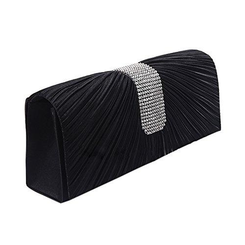 ChezAbbey Bag - Cartera de mano para mujer negro