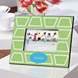 Picture Frame Geometric Lime Design Personalized