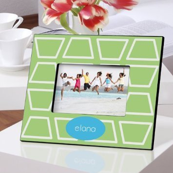 Picture Frame Geometric Lime Design Personalized by Silverfox Promotions
