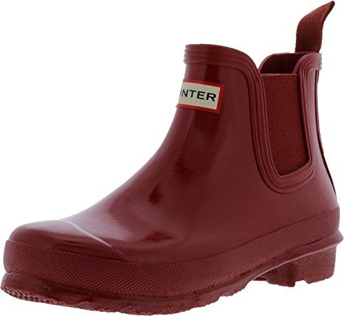Hunter Women's Original Chelsea Rgl Military Red Ankle-High Rubber Rain Boot - 7M by Hunter