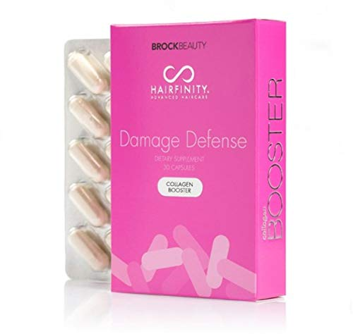 Hairfinity Damage Defense Collagen Booster with Hydrolyzed Collagen for Stronger, Healthier Hair