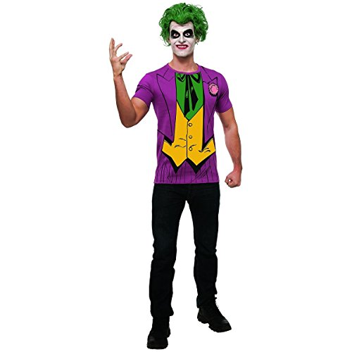 [Rubie's DC Comics Justice League Superhero Style Adult Printed Top The Joker, Purple, Large Costume] (Dc Comics Halloween)