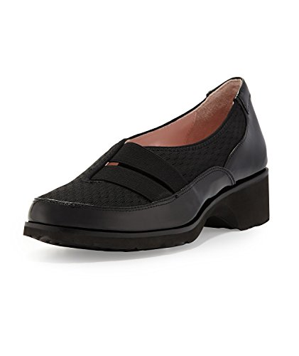 Taryn Rose Mujeres Chalise Slip-on Loafer, Negro Negro
