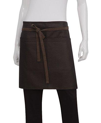 Chef Works Unisex Boulder Half Bistro Apron, Brown/Black, One Size