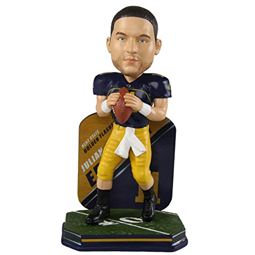 Forever Collectibles Julian Edelman Kent State Golden Flashes Special Edition College Football Name and Number Bobblehead - New England Patriots