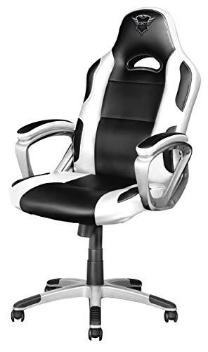 Trust GXT 705W Ryon Silla Gaming ergonomica, disenada para jugar comodamente durante horas, blanco