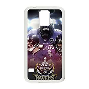 Baltimore Ravens Samsung Galaxy S5 Cell Phone Case White 218y3-169149