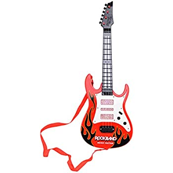 Amazon.com: WOLFBUSH Children Electric Guitar 6 Strings Guitar Toy ...