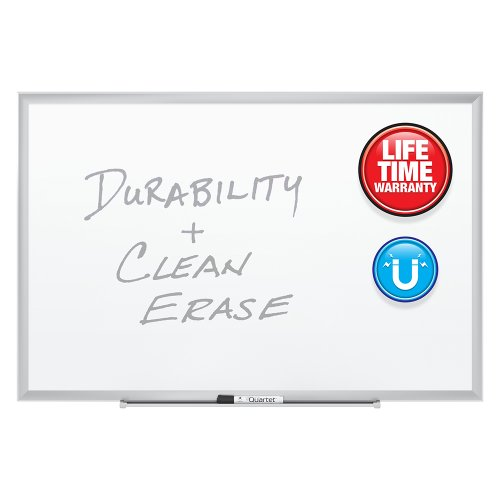 034138254301 - Quartet Magnetic Whiteboard, Premium Dry Erase Board, Duramax, 2 x 3 Feet, Silver Aluminum Frame (2543) carousel main 1