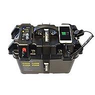 Newport Vessels Trolling Motor Smart Battery Box Power Center Black