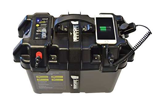 Electric Fishing Boat (Newport Vessels Trolling Motor Smart Battery Box Power Center Black)