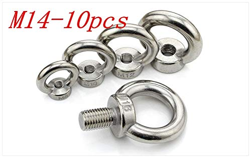 Nuts Metric M14 304 Stainless Steel Lifting Eye Nut Ring Shape Nuts 10Pcs/Lot