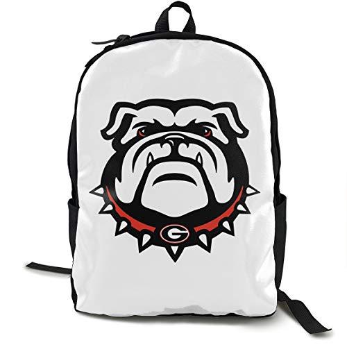 Casual Backpack Travel Daypack Georgia Bulldogs