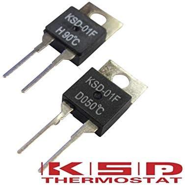 Color: 5C, Voltage: NC-normal close-D 5PCS KSD-01F 0//5//10//15//20//25//30//35 degree celsius thermal control temperature protection switch temperature normally open close