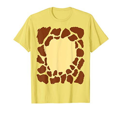Giraffe Halloween Costume Funny DIY Simple Outfit For Kids T-Shirt