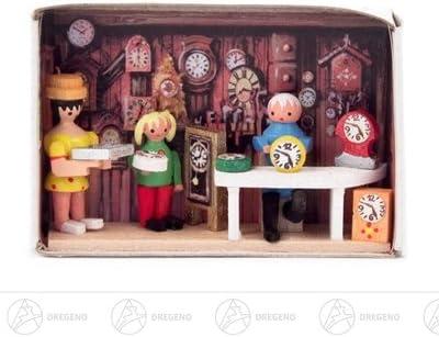 Altura miniatura del ancho x del autor del reloj de la caja de cerillas de la