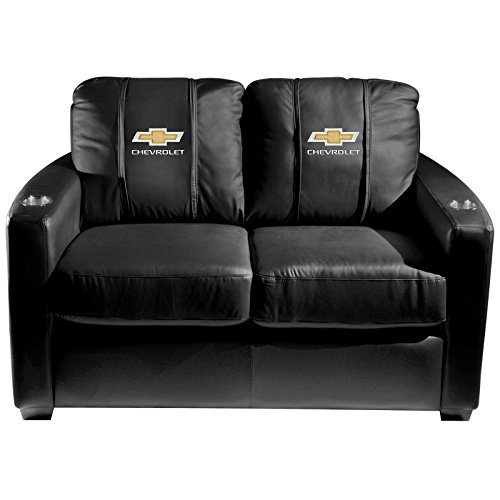 XZipit GM Silver Loveseat with Chevy Logo Panel, Black