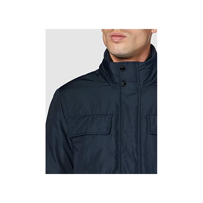 418UYAddS L Abrigo formal con 4 bolsillos, una prenda informal para el uso cotidiano 100% Poliéster Cierre: Con tapa.
