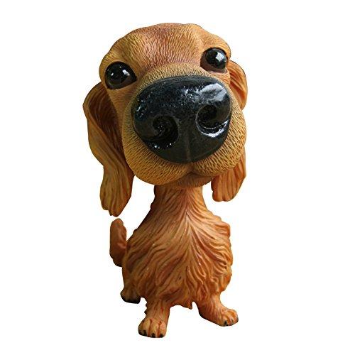 Tickos Car Styling New Cute Bobblehead Dog Shaking Head Dog Doll Resin Simulation Animal Toy for Car Decor Nodding Puppy Dog (Golden Retriever)