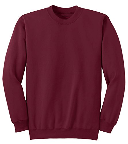 Joe's USA TM- Men's Tall Ultimate Crewneck Sweatshirt-Cardinal-XLT