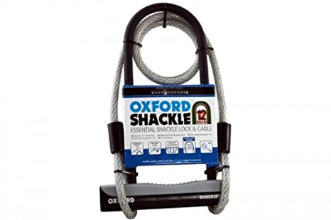 f96cf31bafd Oxford U-Lock and Cable Essential Shackle Lock - Black, 32 cm:  Amazon.co.uk: Sports & Outdoors