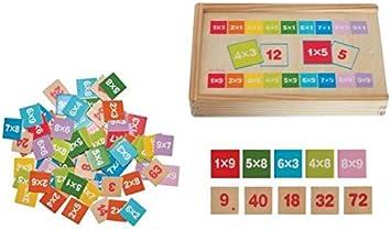 Woodyland Didáctica Juguetes multiplicar y Dividir Matemáticas Aprendizaje en una Caja de Madera (81 Piezas): Amazon.es: Juguetes y juegos