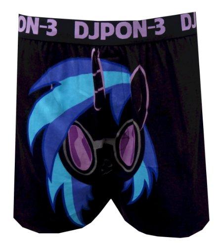 My Little Pony DJ Pon-3 Boxer Shorts for men (Small) - Vinyl Mens Shorts